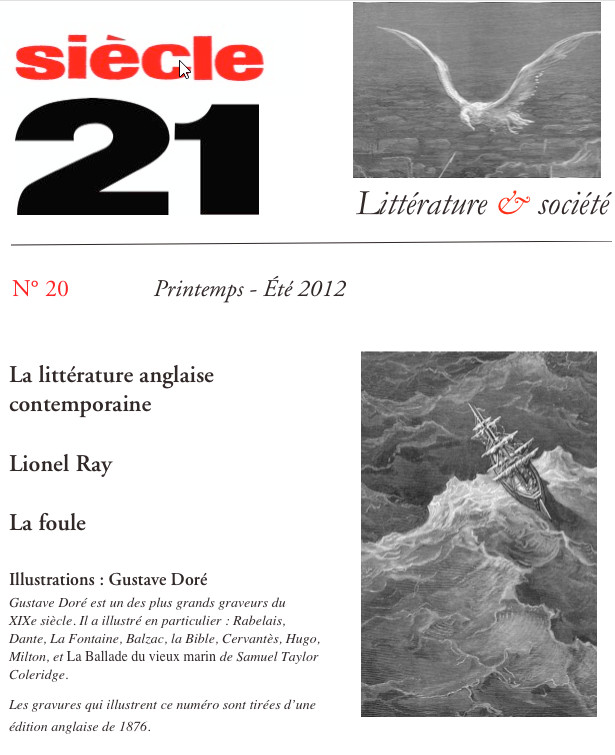 Revue Siècle 21 N20 Recours Au Poème