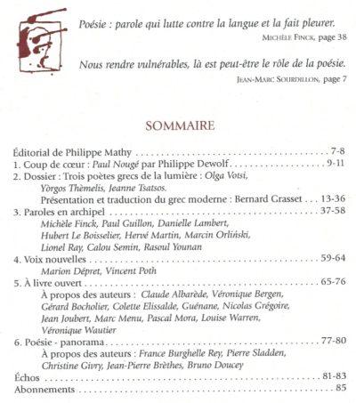 Le Journal des poètes, 2, 2017, 86e année, 10€