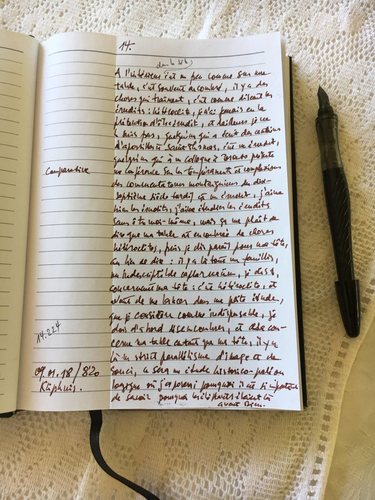 Manuscrit de Lambert Schlechter